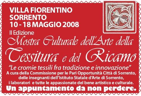Mostra del ricamo a Villa Fiorentina dal 10 al 18 maggio 2008