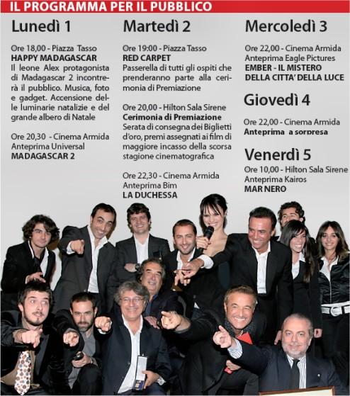 Giornate del cinema Dicembre 2008 a Sorrento