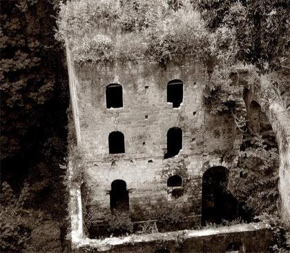 Il Vallone dei Mulini in una foto d'epoca