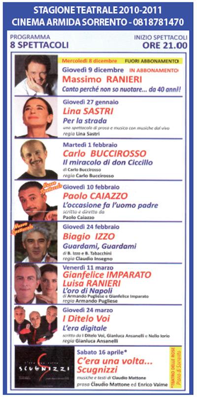 Programma Teatro Armida 2010
