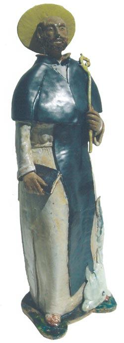 Una Statuetta di Sant'Antonino realizzata dal Maestro Antonio Schisano