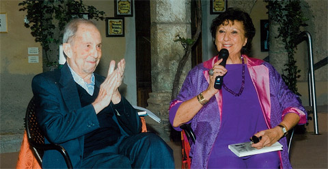 Antonio Ghirelli e Giuliana Gargiulo