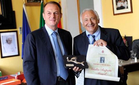 Mogol ritira il Premio Caruso dal Sindaco Giuseppe Cuomo