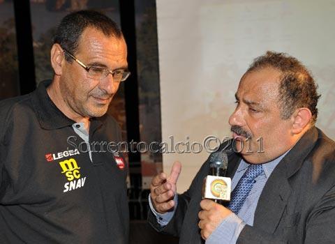 Maurizio Sarri e Peppe Iannicelli