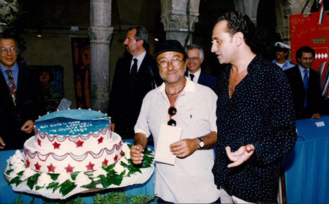 Lucio Dalla e Antonio Cafiero