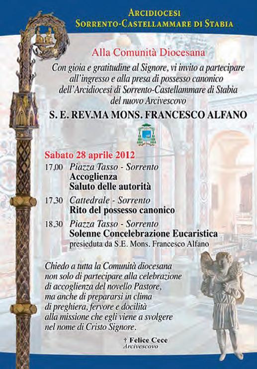 Il Nuovo Arcivescovo della Diocesi Sorrento - Castellammare