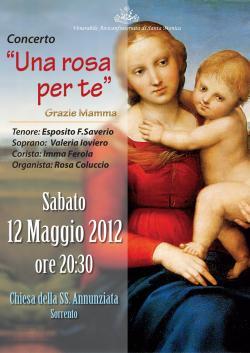 Festa della mamma. A Sorrento, un concerto nella chiesa della SS. Annunziata