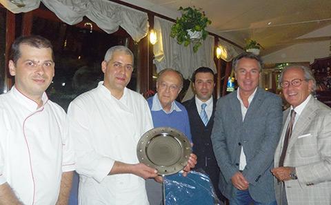 """L'Accademia Italiana della Cucina """"Penisola Sorrentina"""" riunita al Ristorante """"Vela Bianca"""""""